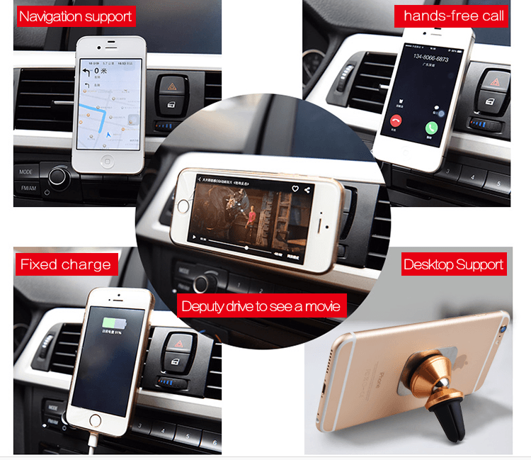 magnetic phone holder for variety of uses